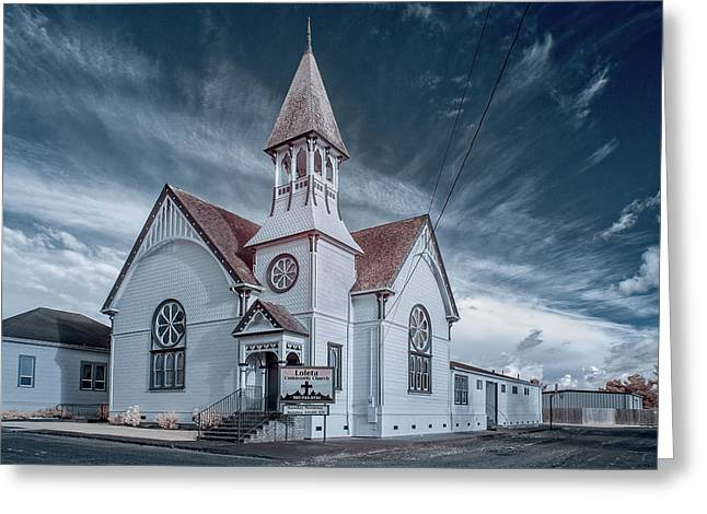Loleta Church Greeting Card by Greg Nyquist