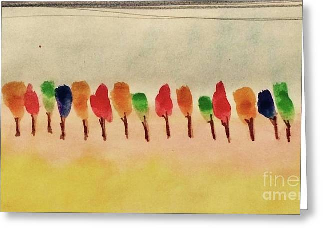 Lollipop Trees Greeting Card