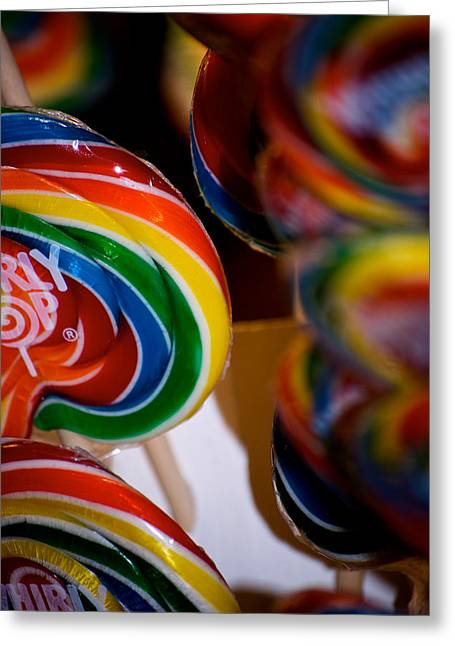 Lollipops Greeting Card by Lisa Knechtel