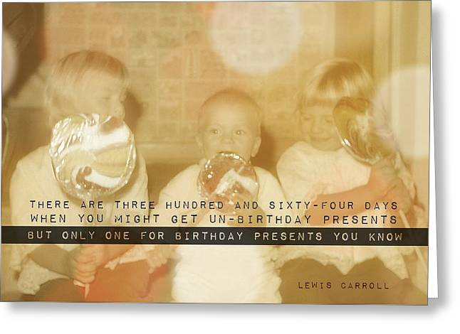 Lollipops Quote Greeting Card by JAMART Photography