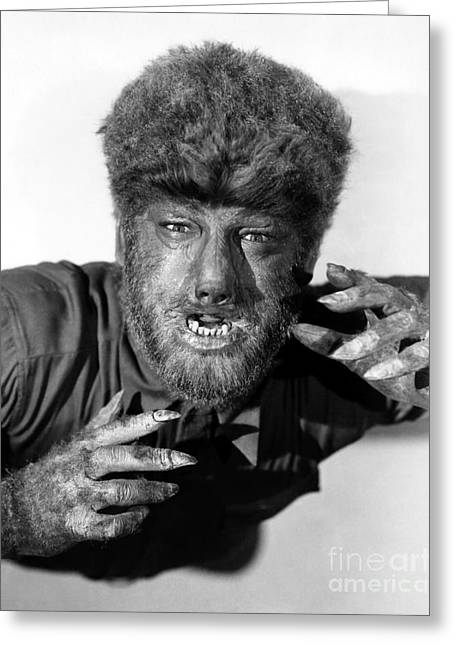 Lon Chaney As The Wolfman Greeting Card by Pd
