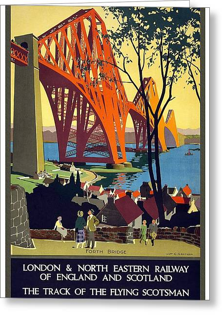 London And North Eastern Railway - Retro Travel Poster - Vintage Poster Greeting Card