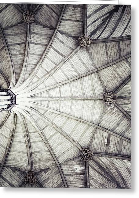 London Architecture - The Octagon Ceiling Greeting Card