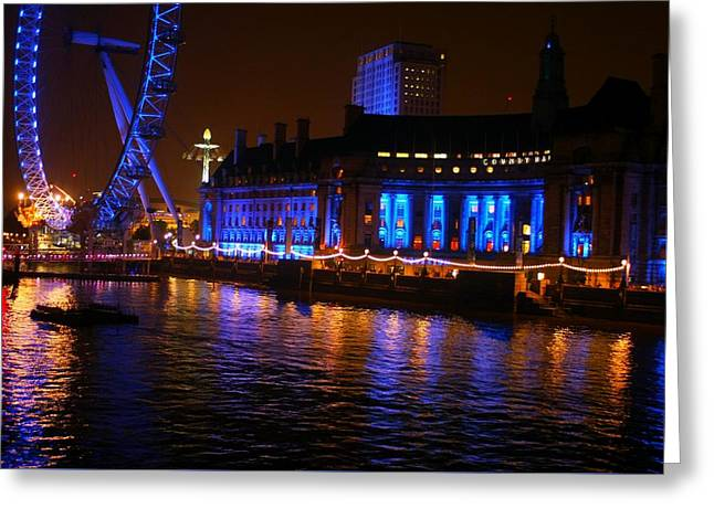 London At Night Greeting Card by Karlis Petersons
