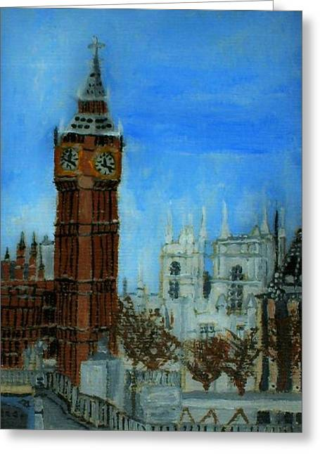 London Big Ben Clock  Greeting Card