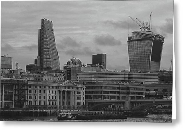 London Black And White Greeting Card