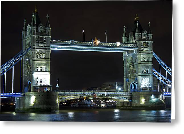 Dslr Greeting Cards - London Bridge at Night Greeting Card by Kamil Swiatek