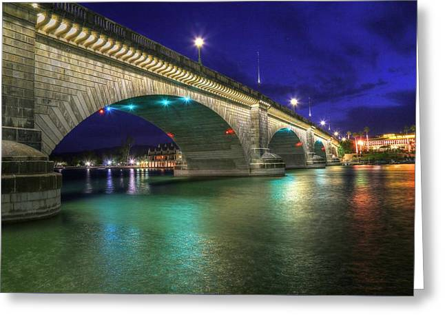 London Bridge Greeting Card by Donna Kennedy