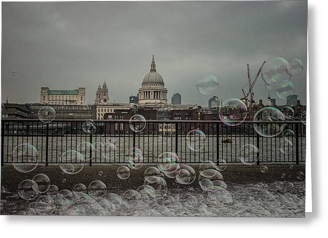 London Bubbles Greeting Card by Martin Newman