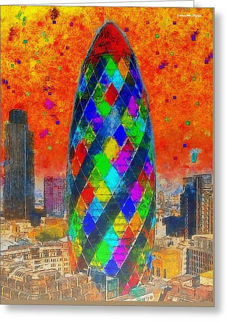 London Bullet 4 - Pa Greeting Card by Leonardo Digenio