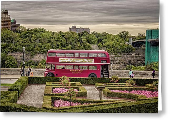 London Bus Greeting Card by Martin Newman