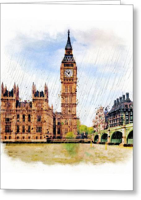 London Calling Greeting Card by Marian Voicu