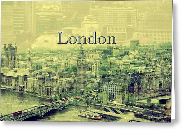 London Calling You Back Greeting Card by Karen McKenzie McAdoo