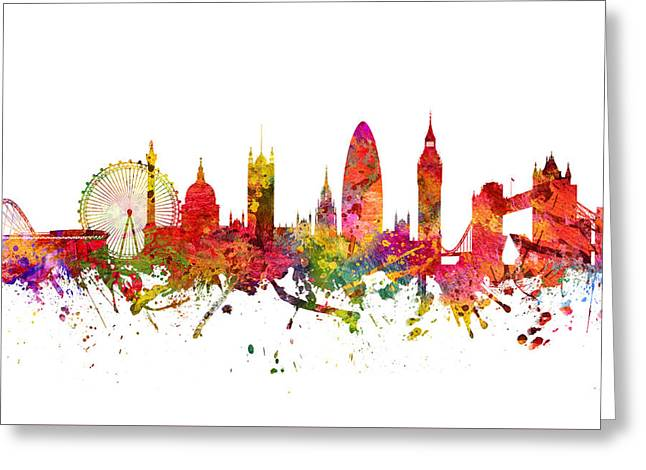 London Cityscape 08 Greeting Card by Aged Pixel