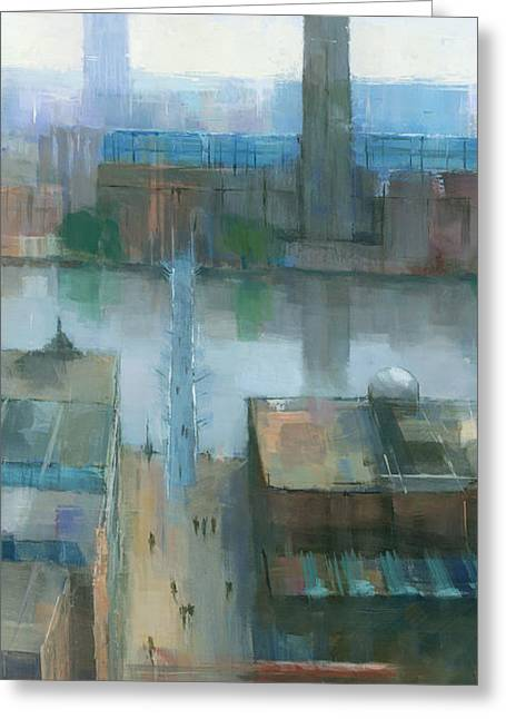 London Cityscape Detail Greeting Card by Steve Mitchell