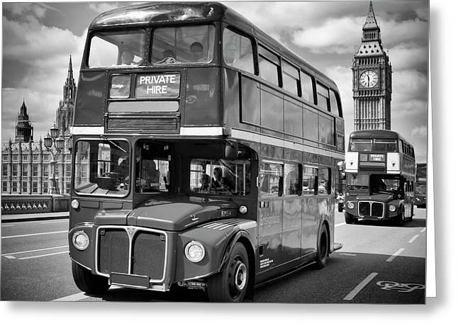 London Classical Streetscene Greeting Card