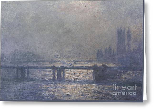 London Greeting Card by Claude Monet