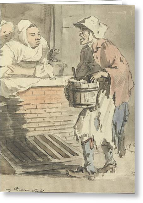 London Cries - Any Kitchen Stuff Greeting Card by Paul Sandby