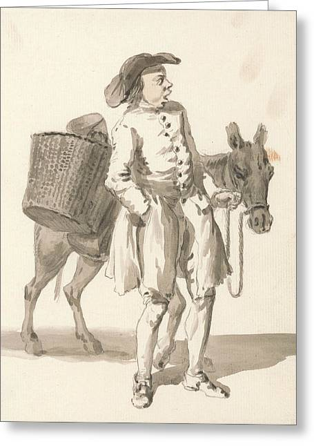 London Cries - Boy With A Donkey Greeting Card
