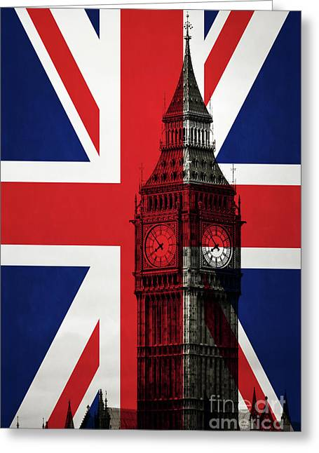 Greeting Card featuring the photograph London England Big Ben by Edward Fielding