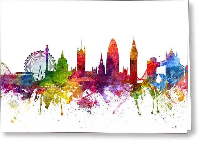 London England Cityscape 06 Greeting Card by Aged Pixel