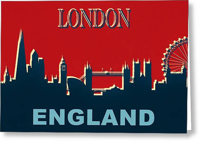 London England Skyline Greeting Card