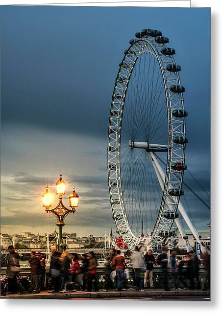 London Eye At Dusk Greeting Card