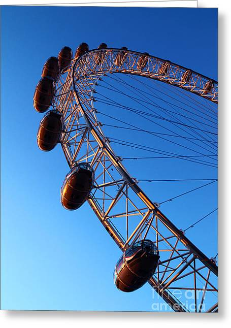 London Eye Capsules At Sunset Greeting Card