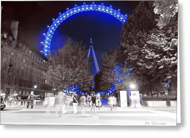 London Eye Greeting Card by Sara Chin