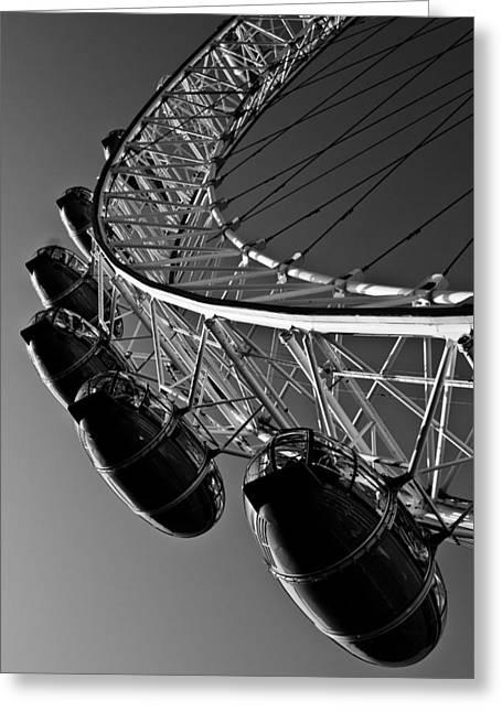 Best Sellers -  - Capsule Greeting Cards - London Eye Greeting Card by David Pyatt