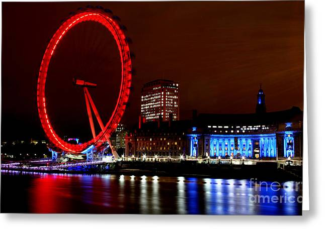 City Hall Greeting Cards - London Eye Greeting Card by Heather Applegate