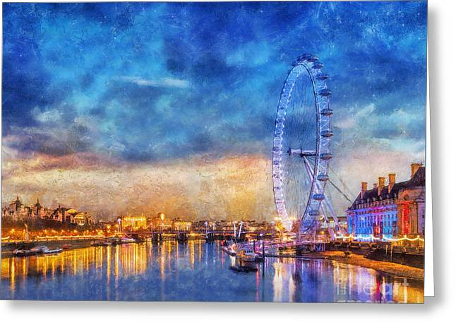 Greeting Card featuring the photograph London Eye by Ian Mitchell