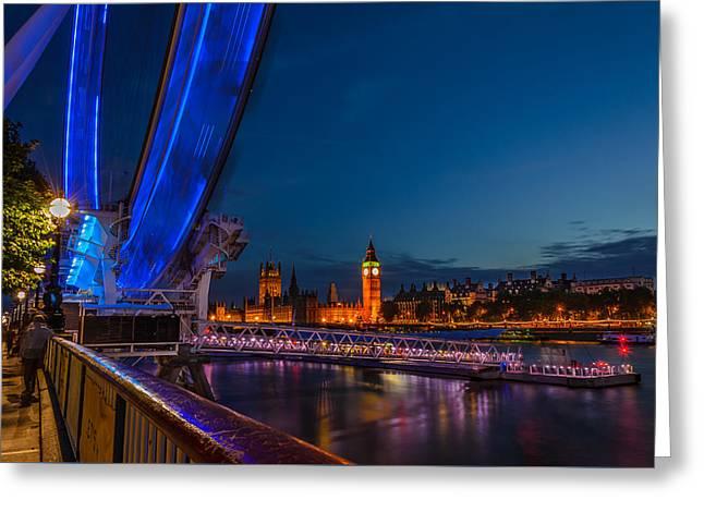 London Eye Pier Greeting Card