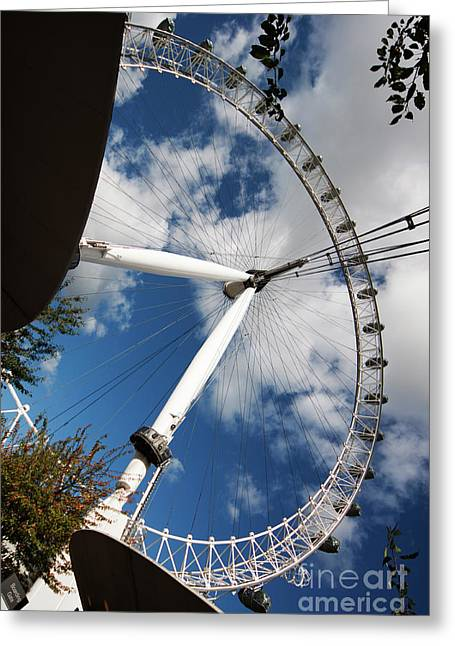 London Ferris Wheel Greeting Card