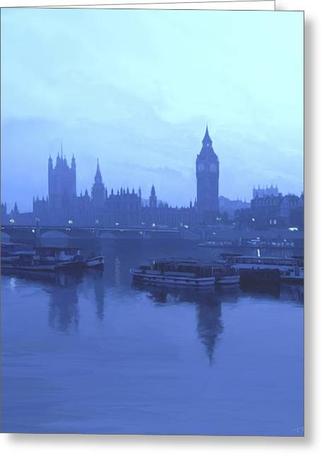 London Fog Greeting Card