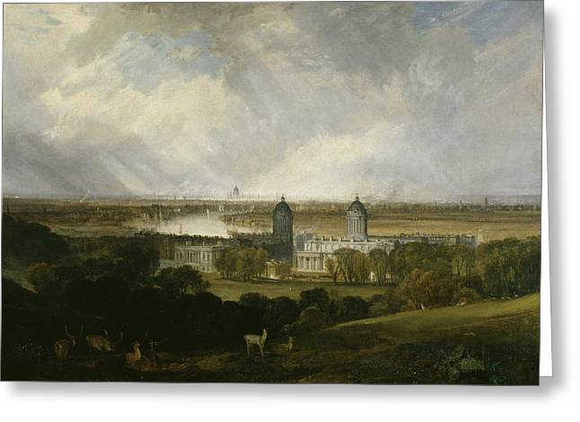 London From Greenwich Park Greeting Card by Joseph Mallord William Turner