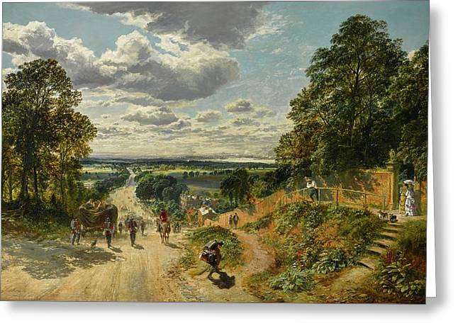 London From Shooters Hill Greeting Card