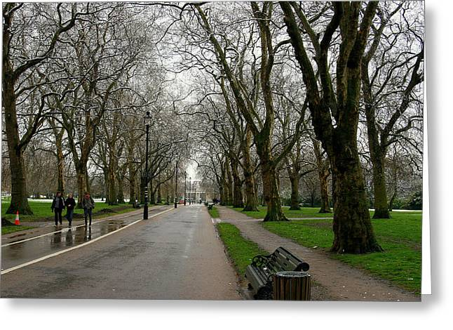 London Hyde Park Greeting Card