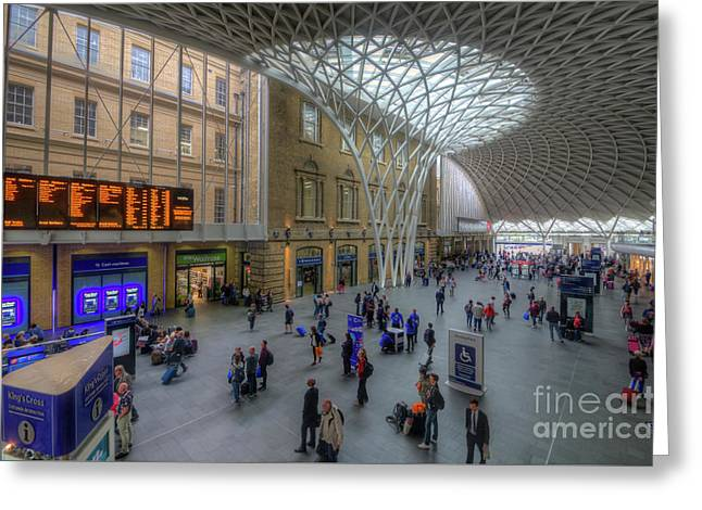Greeting Card featuring the photograph London King's Cross by Yhun Suarez