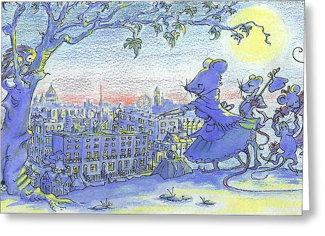London Lay Before Us Greeting Card by Yvonne Ayoub