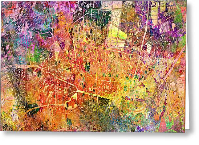 London Map Abstract  Greeting Card