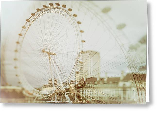 London Mist Greeting Card by Mila Ivke
