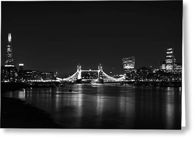 London Night View Greeting Card by Mark Rogan