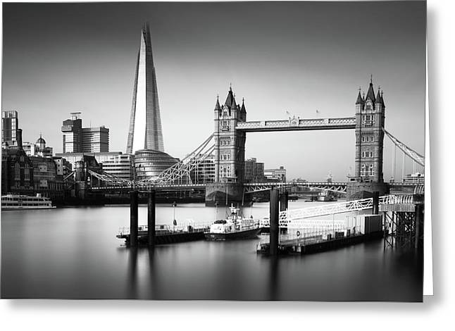 London, Old And New, Bw Greeting Card by Ivo Kerssemakers