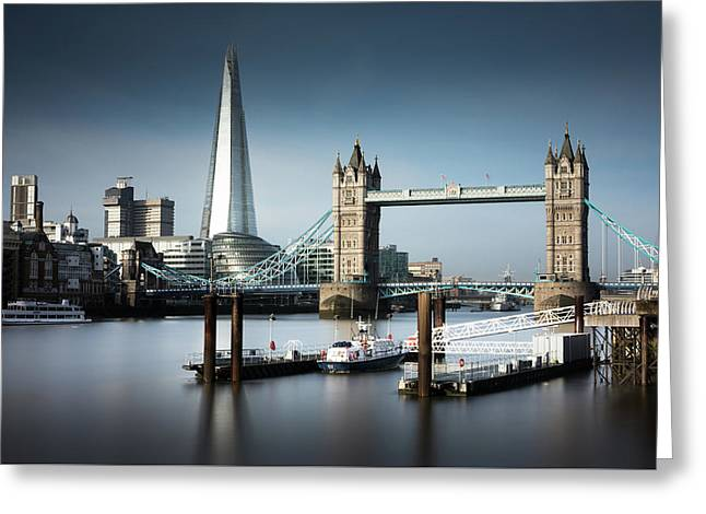 London, Old And New, Color Greeting Card by Ivo Kerssemakers