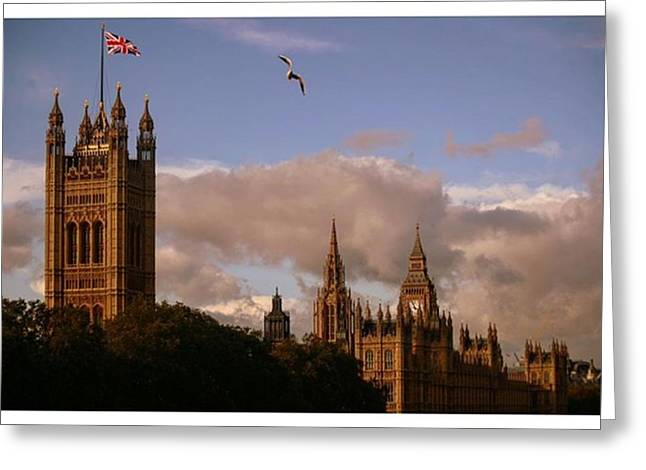 #london #parliamenthouse #westminster Greeting Card by Ozan Goren