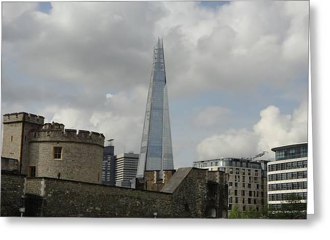 London Shard And Tower Greeting Card