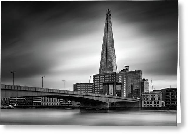London Skyline In Monochrome Greeting Card by Ian Hufton