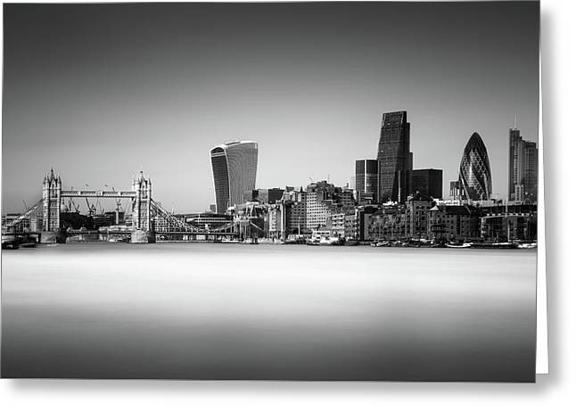 London Skyline Greeting Card by Ivo Kerssemakers