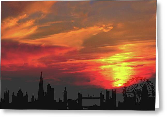Sunset London Greeting Card